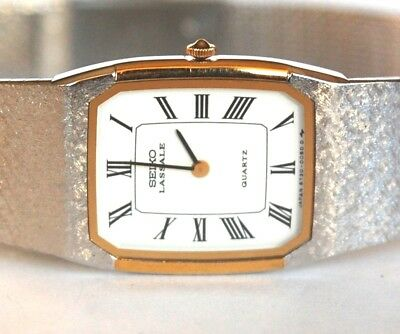 Vintage New Old Stock W/tag $550 Ladies Seiko Lassale 6730 Watch Mint Condition