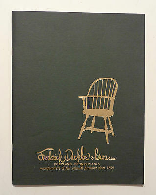 Vintage 1994 FREDERICK DUCKLOE WINDSOR CHAIRS - Catalog EARLY AMERICAN FURNITURE