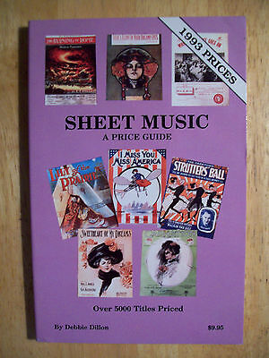 Vintage Sheet Music $$$ Price Value Guide Collector's Book 5000+