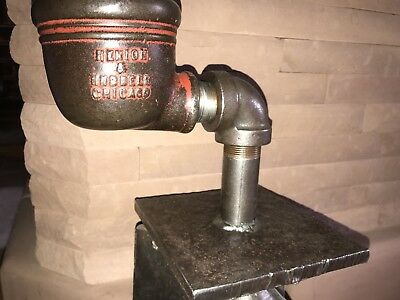 Antique well/pump diverter conductor cup cast iron Henion Chicago display