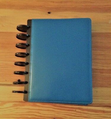 ARC Customizable Systems Datebook Notebook  Turquoise Leather