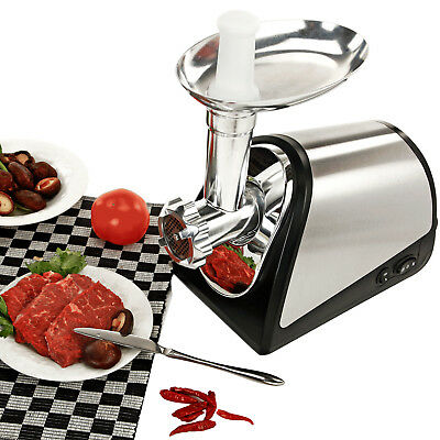 Industrial Electric Meat Grinder Commercial Butcher Supply 3 Cutting Blades New