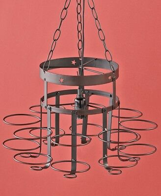 Rustic Primitive Country Star Wrought Iron Mason Canning Jar Chandelier Lamp