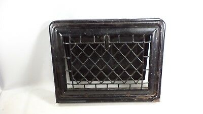 Antique Vintage Raised Front Heat Wall Grate Register Vent Cover Diamond Pattern