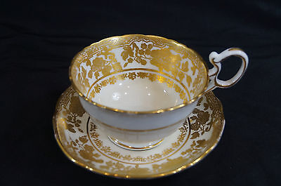 Hammersley & Co 14433 Gold Floral Gilt Tea Cup & Saucer Circa 1912 - 1939