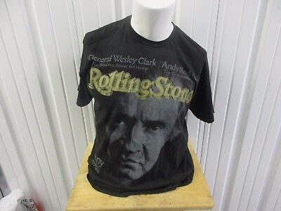 Vintage Johnny Cash Rolling Stone Collection Rip Tribute Black Xlarge T-Shirt
