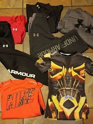 Boys youth under armour lot hoodie sweatpants pants and tops Size Medium YMD