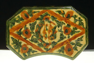 A Fine Collection of Chinese 7thC Tang Sancai Pottery Pillow