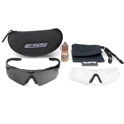 ESS Crossbow APEL Eye Protection Spectacle Kit – with Clear and Smoke Gray Lens