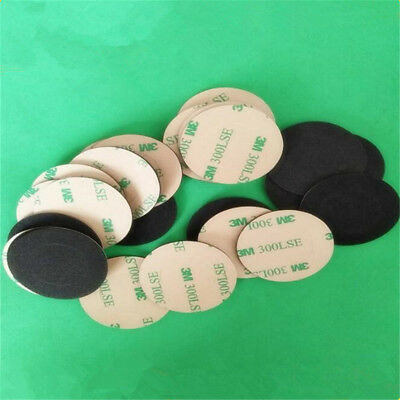 10/30X Round Black Double Sided Foam Sticky Pad Mounting Tape Auto Adhesive 50mm