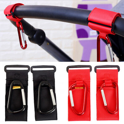 Universal Mummy Buggy Clip Pram Pushchair Stroller Hook Shopping Bag Holder