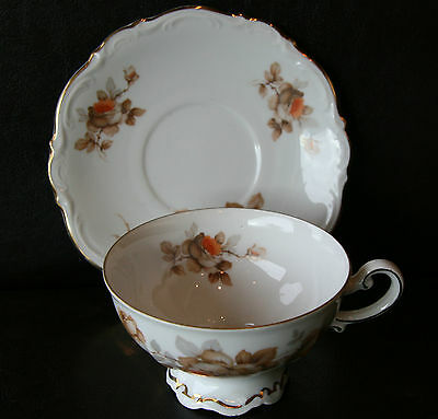 Mitterteich Norway Rose 2 Cups & 4 Saucers