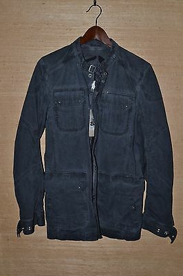 Diesel Buckle Collar Motorcycle Military Style Charcoal Grey Jacket, Size S, NWT