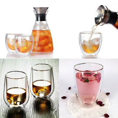 200/250/450ml Double Wall Glass Tea Coffee Cup Heat-resistant Double Layer Glass