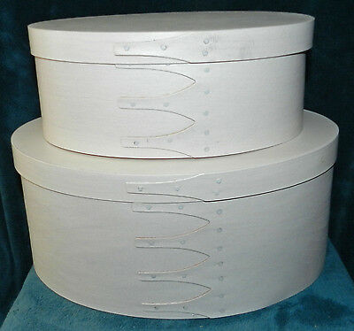 2 Fabulous Off White Antique/vintage Style Wood Pantry/cheese Boxes!!