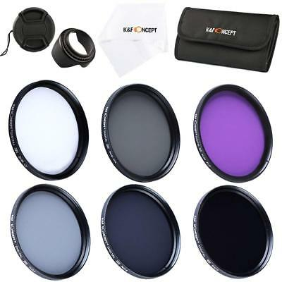 K&F Concept 49mm UV CPL FLD ND2 ND4 ND8 Slim Lens Filter Kit Accessory for Canon