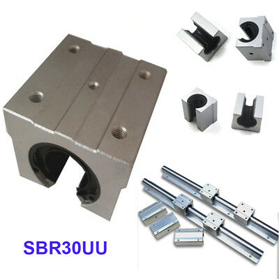 SBR30UU 30mm Open Linear Motion Ball Bearing Slide Bushing Block CNC Aluminum
