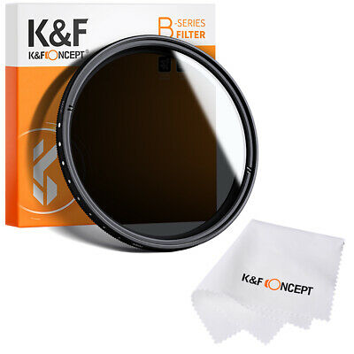 46mm Variable Fader ND Filter Neutral Density Adjustable ND2 to ND400  + Cloth