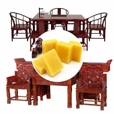 1X Natural Beeswax Sticks Wood Furniture Floor Polish Waxing For Handmade Craft
