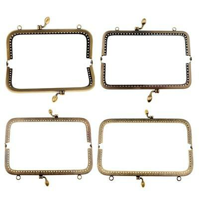 4xHandle Sewing Purse Handbag Coins Bags Metal Kiss Clasp Frame Lock