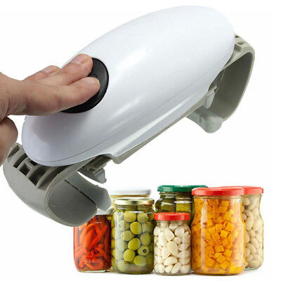 Hot Sale One Button Hands Free Electric Bottle Opener Jar Lid Can Opener -HB1