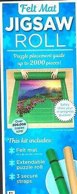 Jigsaw Puzzle Roll Felt Mat - Tube storage up to 2000 pieces - NEW - FREE SHIP