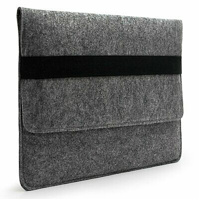 Lavievert Handmade Gray Felt Case Bag Sleeve Protector with Black Elastic Band