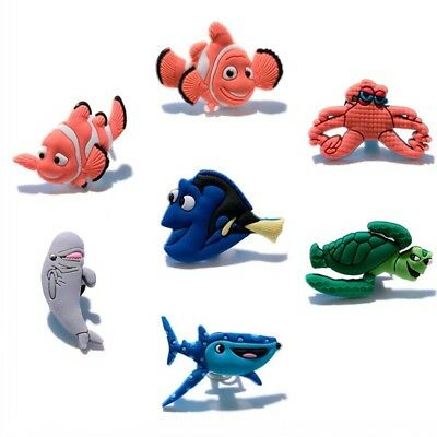 2pcs Finding Nemo PVC Shoe Charms Shoe Accessories/Decor Fit Bracelets Croc JIBZ