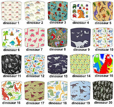 T. Rex Dinosaurs Lampshades Ideal To Match Dinosaur Curtains & Wallpaper Border.
