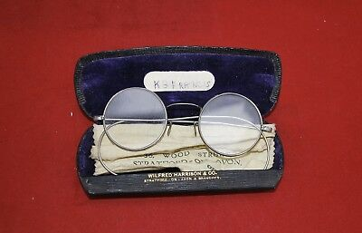 Vintage Pair Of 1940S Childs Wire Oculists Prescription Glasses.