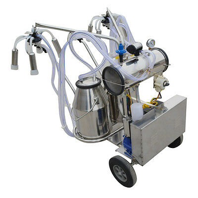 110v/220v Electric Vacuum Pump Milking Machine  Double Tank Portable TOP