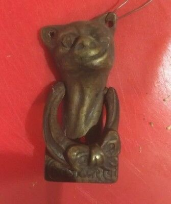 Vintage Brass Cat Door Knocker