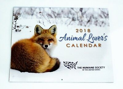 2018 Calendar The Humane Society Of The United States Animal Lover's