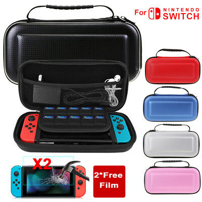 For Nintendo Switch Carrying Bag Case,CarbonFiber Accessory Hard Shell,Protector