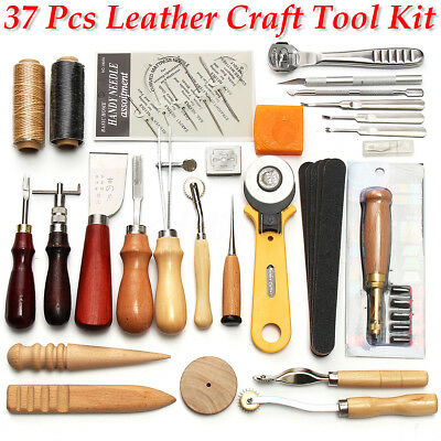 37Pcs Leder Werkzeug Stitching Craft Hand Sewing Stitching Groover Kit Sets DIY