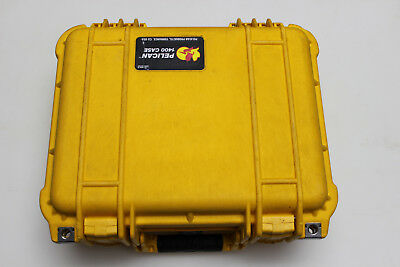 Pelican 1400 Hard Shell Case Yellow With some foam inside dimensions 12x9x6