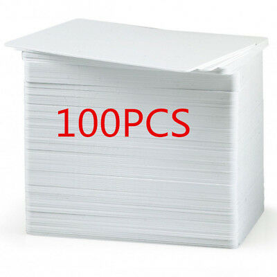 100pcs White Plastic PVC Cards Blank CR80 30mil For ID Card Printers Lastest HB1