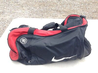 Nike Total 90 Duffel Sports Kit Bag Training Gym Holdall - Black Red
