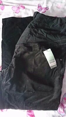 Next Maternity black cord pants size 20r brand new with tags