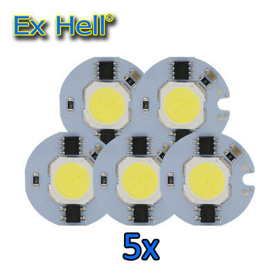 5x LED COB Chip Licht 9W 7W 5W 3W 220V 230V Eingang Clever IC Zum DIY LED