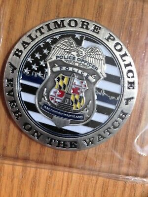 Baltimore Police Dept. Western District Challenge Coin