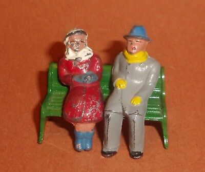 Barclay Lead Figures Man and Woman on Bench