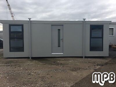 New 24' x 10' Portable Building/Portable Cabin with UPVC Double Glazed Windows