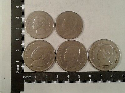 Lot Of 5 Coins - 1907 (3), 1908 (2) Haiti *