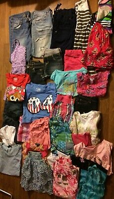 girls spring summer clothes Outfits sz 10/12 HUGE lot of 33 Justice