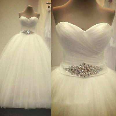 NEW Formal Wedding Dress Bridal Gown Ball Size 6 8 10 12 14 16 18 20 22 24 26+++