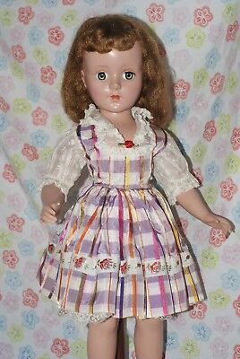 "LOVELY!! Vintage 20"" Sweet Sue Hard Plastic Strung Doll Original Dress"