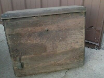 Vintage Wooden Oak Tank Toilet Back Commode Metal Lining Rare Old Plumbing
