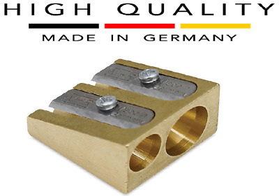 Germany Mobius and Ruppert (M+R) Brass Wedge Double Hole Pencil Sharpener School