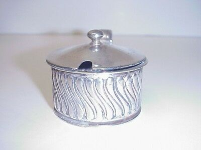 Antique Gorham Sterling Silver Covered Pot Condiment Mustard